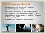 what is generativity
