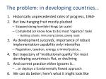 the problem in developing countries
