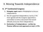ii moving towards independence1