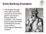 early banking examples