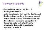 monetary standards