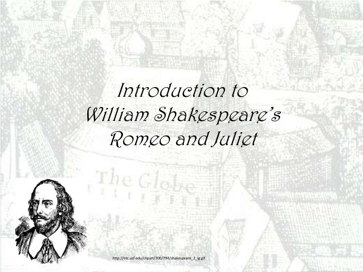 an introduction to william shakespeare and his works He is referred to as william shakespeare, shakespeare, or the bard by countless fans of his work around the world shakespeare wrote his earlier plays in the traditional style of the time he relied heavily on using drawn out—sometimes extravagant—metaphors and narcissisms.