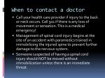 when to contact a doctor