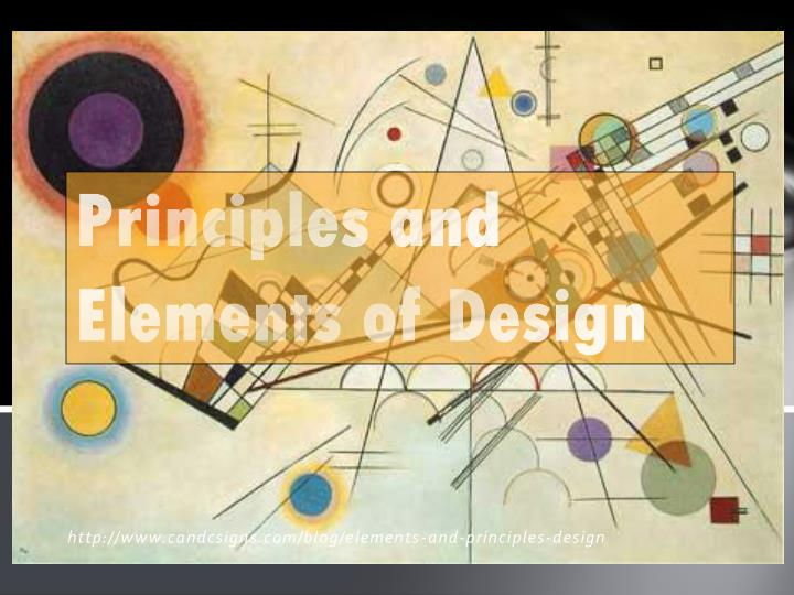 principles and elements of design n.