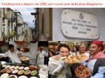 celebrazione a n apoli nel 1989 per i cento anni della pizza m argherita