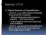 sources c t d