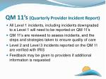 qm 11 s quarterly provider incident report