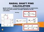 radial shaft pins calculation