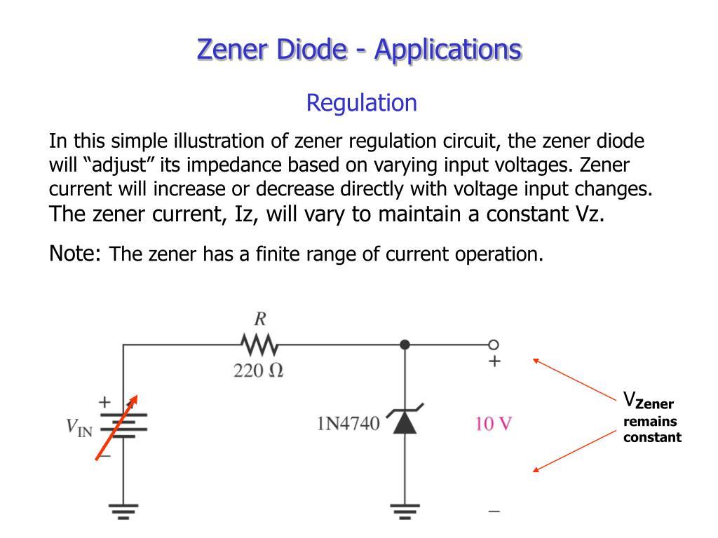 Zener Diode In A Voltage Regulating Circuit