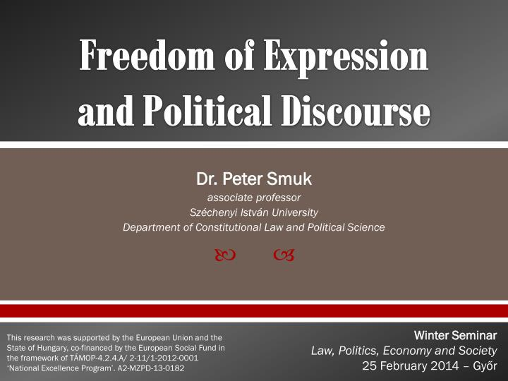 freedom of expression and political discourse n.