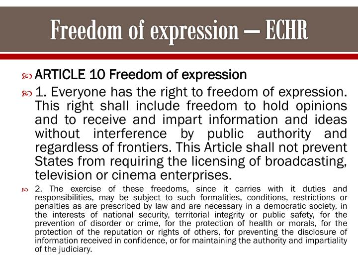 copyright and freedom of expression debate The specific rights of free speech and copyright can and speech and copyright don't (or do conflict can't) conflict 12 the 13 the conflict is 11 freedom of allowances made only prima facie: expression does not by copyright law once copyright is require the are enough to appropriately infringement of protect freedom defined, there is no.