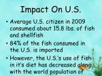 impact on u s