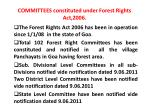 committees constituted under forest rights act 2006