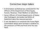 corrective steps taken