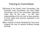 training to committees