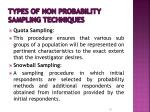 types of non probability sampling techniques1