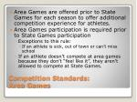 competition standards area games