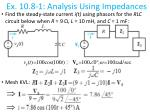 ex 10 8 1 analysis using impedances