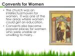 convents for women