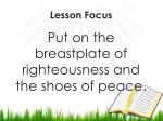 lesson focus