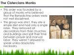 the cistercians monks