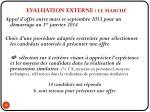 evaluation externe le march