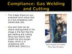 compliance gas welding and cutting