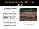 compliance reinforcing steel