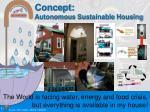 concept autonomous sustainable housing