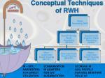 conceptual techniques of rwh