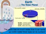 earth the water planet