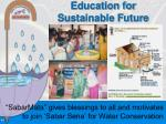 education for sustainable future
