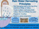rain water harvesting principles
