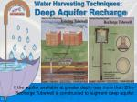 water harvesting techniques deep aquifer recharge