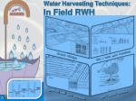 water harvesting techniques in field rwh