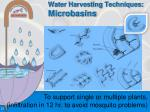 water harvesting techniques microbasins