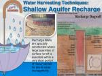water harvesting techniques shallow aquifer recharge