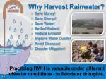 why harvest rainwater