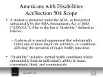 americans with disabilities act section 504 scope
