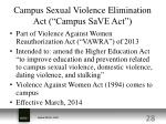 campus sexual violence elimination act campus save act