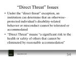 direct threat issues