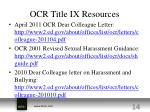 ocr title ix resources