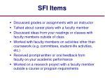 sfi items