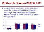 whitworth seniors 2009 2011