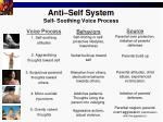anti self system self soothing voice process