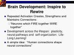 brain development inspire to rewire