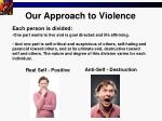 our approach to violence