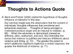 thoughts to actions quote