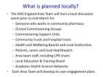 what is planned locally