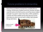 future problems in antarctica
